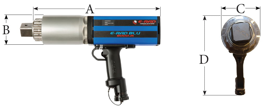 E-RAD Blu Electronic Torque Tools Dimension 1 - Rad Torque Tools